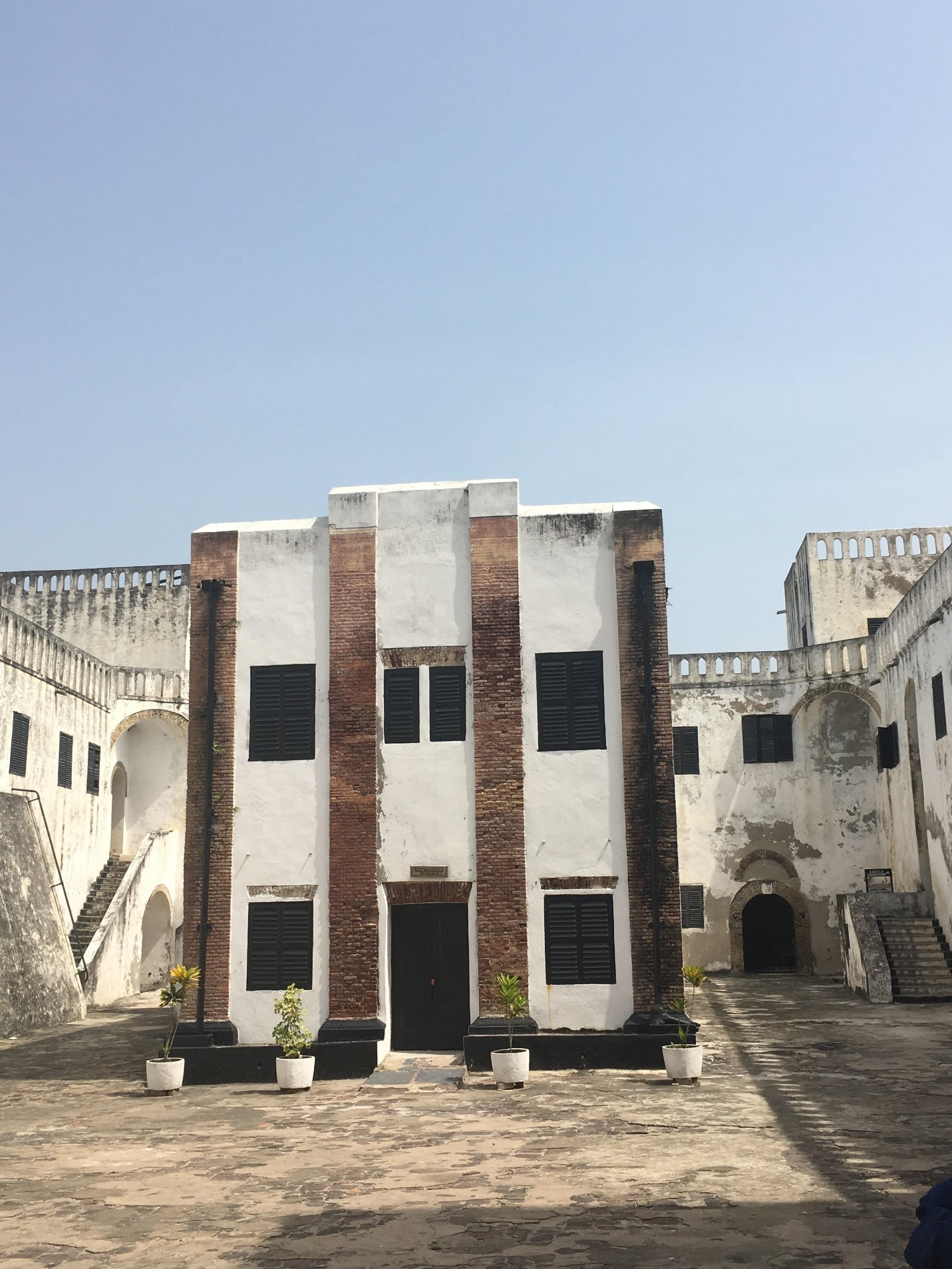 in the middle of Elmina Slave Castle